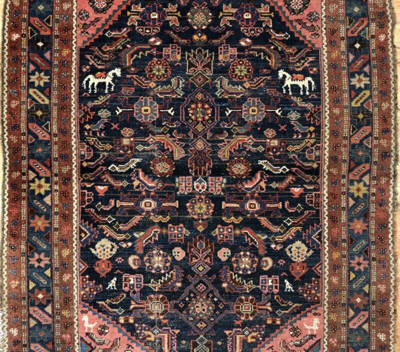 Tremendous Tribal - 1920s Antique Oriental Rug - Nomadic Carpet - 4.8 X 6.4 Ft.