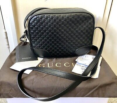 Gucci Micro GG Guccissima Bree Leather Camera Bag, With Receipt!