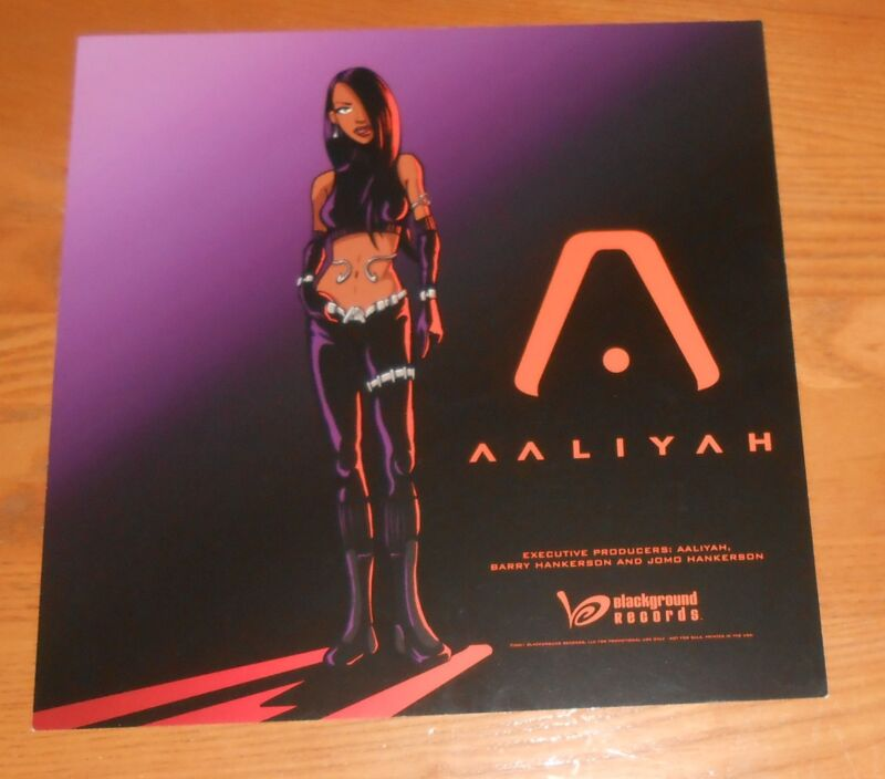 Aaliyah Poster 2-Sided Flat Square 2001 Promo 12x12 RARE
