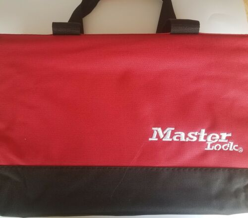 Masterlock 4HY67 Portable Lockout Kit w/ Red Satchel Filled