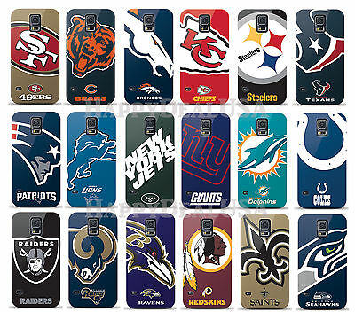 Nfl Samsung Protector (NFL Slim Fit Hard Cover Case for Samsung Galaxy S5 + FREE Screen Protector)