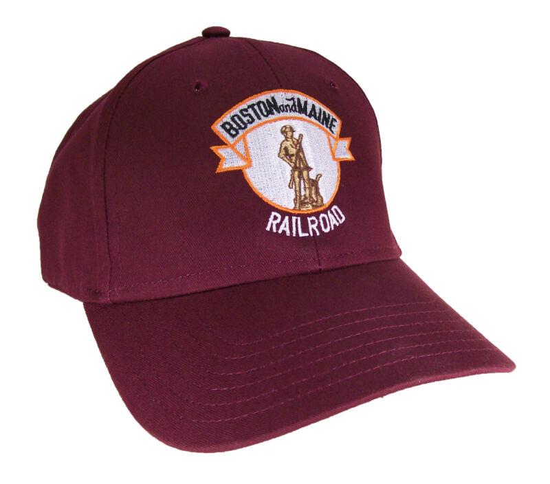Boston & Maine Railroad Minuteman Embroidered Cap Hat #40-0065mv
