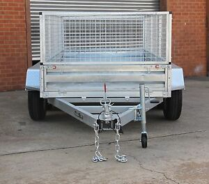 10x5 GALVARNISED TANDEM TRAILER WITH 600MM CAGE  2000KG ATM Fyshwick South Canberra Preview