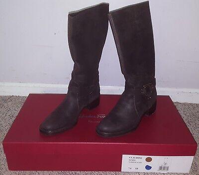 58f2d61ef85 Salvatore Ferragamo Claudine Womens Boots SIze 7