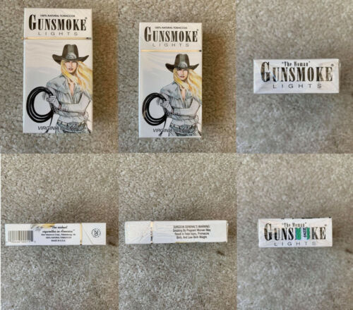 VINTAGE / COLLECTABLE 1990 GUNSMOKE LIGHTS CIGARETTE PACKET FREE SHIPPING