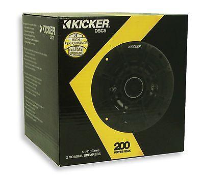 """KICKER DSC54 (41DSC54) 5-1/4"""" 2-Way Car Audio Speakers 200 Watts"""