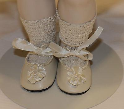 "German style shoes  antique bisque or vintage composition doll 2"" long sz8"