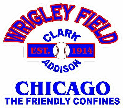 Wrigley Field Skins Cornhole Chicago Cubs DECALS Bean Bag Toss Game Stickers
