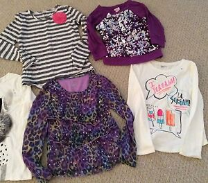 Lot Of 5 Long Sleeve Tops Girls Size 8-10 (7-8 Year Old) Cambridge Kitchener Area image 3