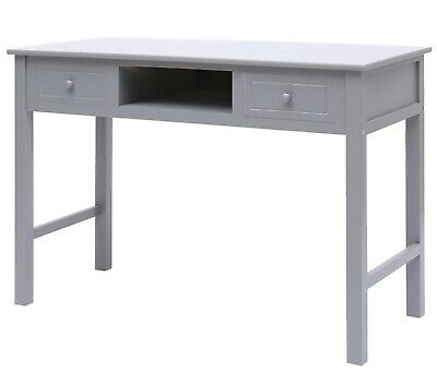 Vintage Grey Computer Desk Wood Writing Study Desk Console Table Home Bureau NEW