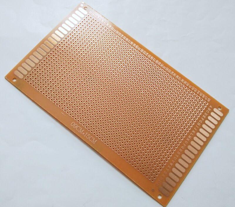 1pc Single sided perf board PCB DIY Universal Prototype Paper 9x15cm 90x150mm