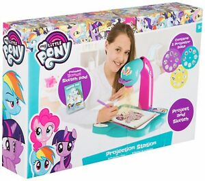 My Little Pony Tracing Drawing Projector Kids Projection Station Draw Colour Set