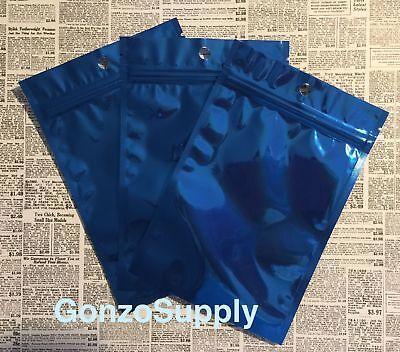 100pc Ziplock Mylar Bags 4.7x7 Blue Bags-coffee Snacks Odor Proof Organize