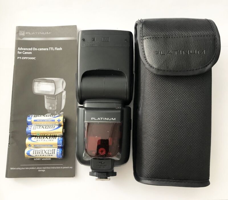 *Mint* Platinum Flash for Canon Cameras PT-DPF500C Black