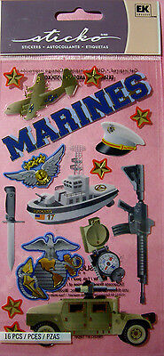 NEW 16 pc MARINES Compass Rifle Air Transport  Air Crew Boat Jeep STICKO Sticker for sale  Shipping to India