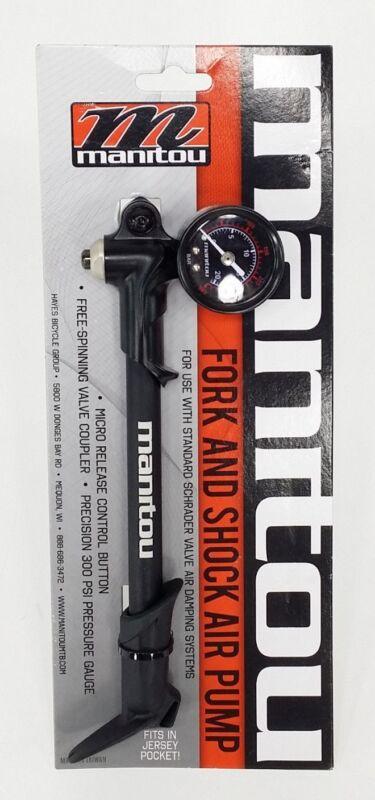 Manitou Suspension Shock/Suspension Fork Air Pump With Bleeder 300 PSI