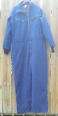 Vint Lion Apparel Mens Work Uniform Coveralls Blue Size 42-44 Large