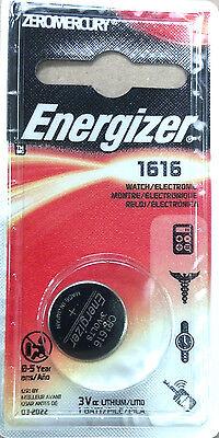 ENERGIZER, 3 VOLT, #1616 ZERO MERCURY SINGLE BUTTON/COIN CELL BATTERY