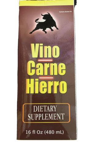 ( 2 Pack ) Dietary Supplement,suplementos vitaminicos Vino Carne Hierro 16 oz