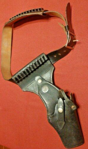 Vintage 44 S&W Swivel Black Leather Holster JAY-PEE Ammo Belt 40