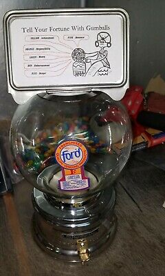 FORTUNE gum 1950s model Ford gumball machine penny glass globe lock & key 052591