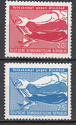 DDR 1958 Mi. Nr. 655-656 Postfrisch ** MNH