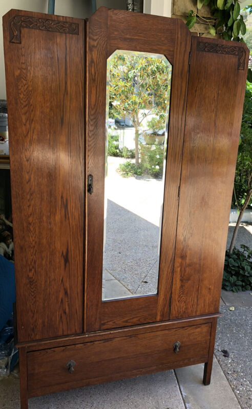 Antique chifferobe wardrobe