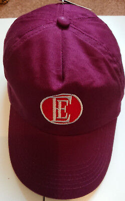 ENGLISH ELECTRIC CAP NEW TRAIN HAT BR EMBROIDERED BRITISH RAIL MAROON