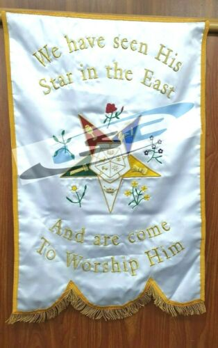 MASONIC OES SIGNET CHAPTER BANNER ORDER OF THE EASTERN STAR
