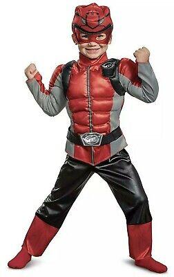 Boys Beast Costume (New Red Power Ranger Beast Morpher 2T 3T 4T Boys Muscle Costume Dress Up)