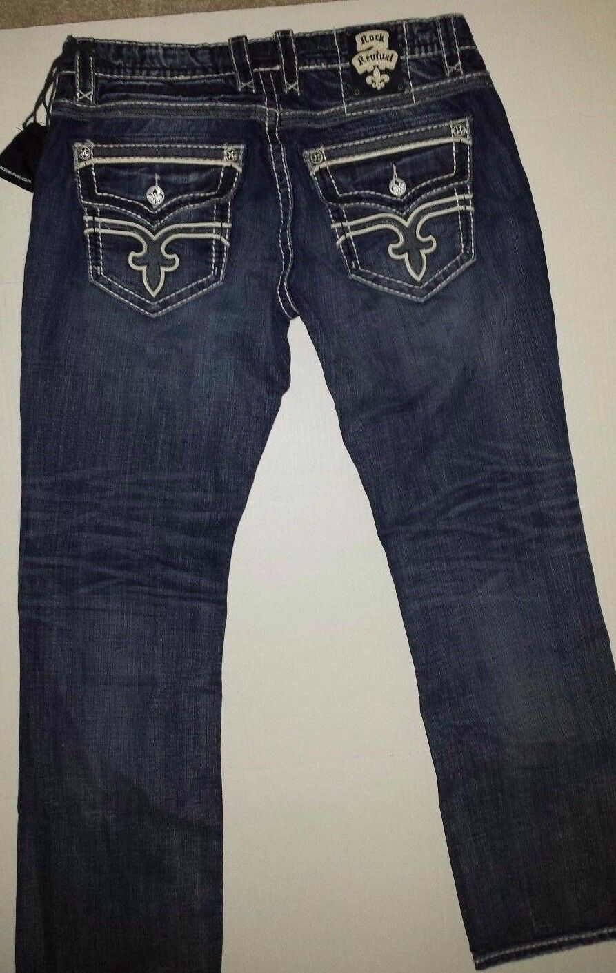 Revival Mens Designer Jeans Chris Straight RJ8911J Size 44 CHRIS J