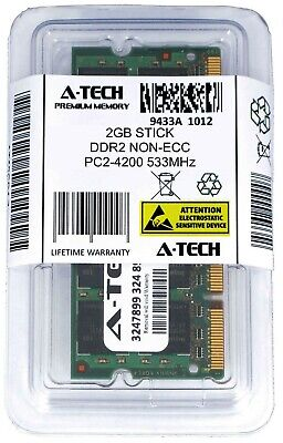 A-Tech 2GB PC2-4200 Laptop SODIMM DDR2 533 MHz 200-Pin Notebook Memory RAM 1x 2G 200 Pin Sodimm Notebook Memory