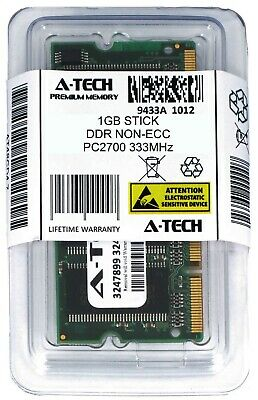 A-Tech 1GB PC2700 Laptop SODIMM DDR 333 MHz 200-pin non-ECC Notebook Memory RAM 200 Pin Sodimm Notebook Memory