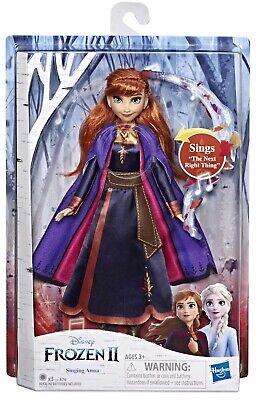 Disney Frozen 2 Singing Anna Musical Fashion Doll with Purple Dress NEW ITEM