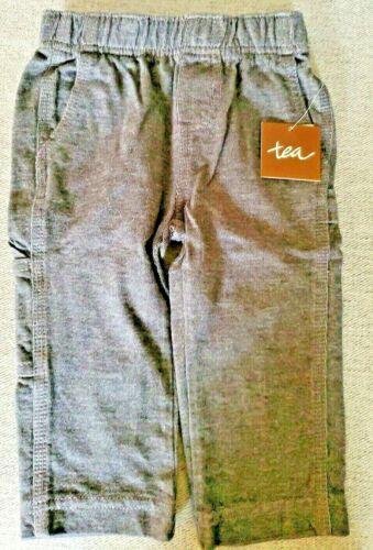TEA COLLECTION Boys Pants Denim-Like Carpenter Baby Boys 3-6 months, NEW