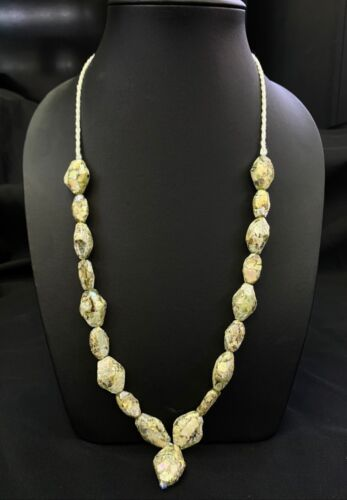 Ancient Roman Glass 2000 Years Old With Excellent Patina Beads Necklace Strand