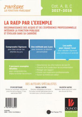 Détails Sur La Raep Par L Exemple 2017 2018 Intégrer La Fonction Publique Aux éditions Dunod