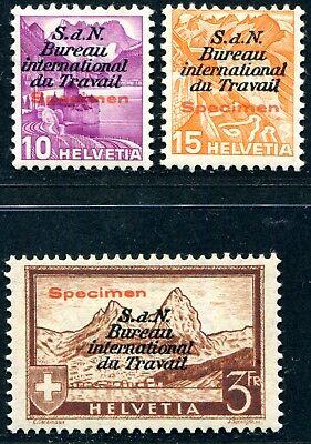 SCHWEIZ BIT 1937 48,41-42 * SPECIMEN AUFDRUCK ungebraucht SELTEN 370€(S3267