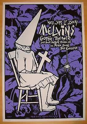 2004 The Melvins - Denver Silkscreen Concert Poster s/n Gigart