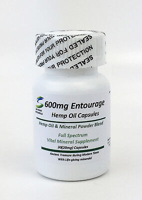 Hemp 600 Relief Anxiety  Pain  Sleep Aid Vital Minerals Inflammation 30 Capsules