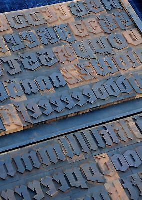 Blackletter Letterpress Wood Printing Blocks 127pcs 3.54 Tall Type Woodtype