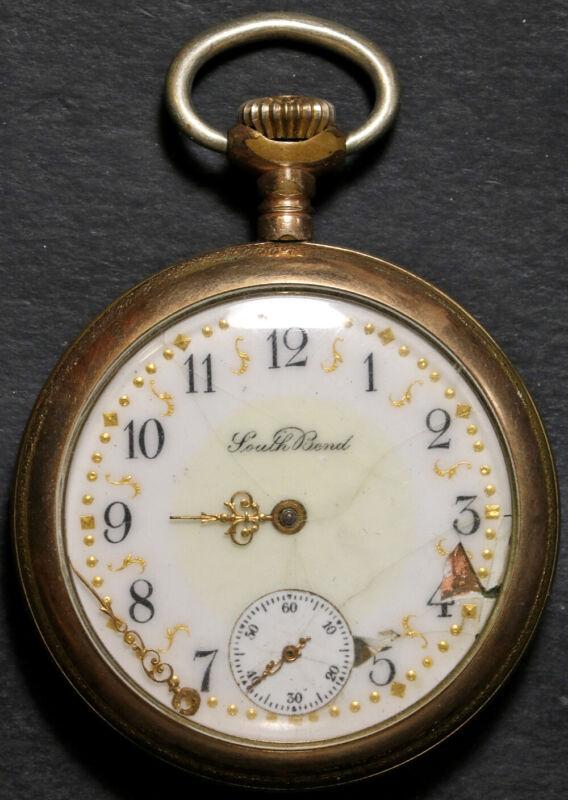 Southbend Model 281 Pocket Watch 16 Size 15 J. Gold-Filled Open-Face