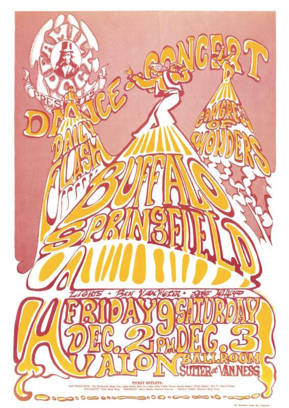 MINT Buffalo Springfield 1966 FD 37 ORIGINAL Avalon Poster