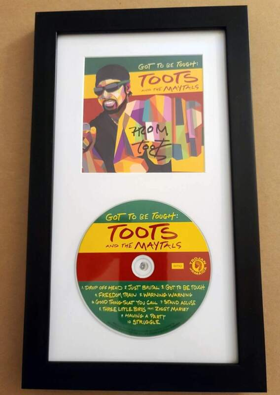 """""""GOT TO BE TOUGH"""" CD FRAMED SIGNED BY TOOTS HIBBERT Toots and the Maytals REGGAE"""