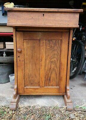 Antique Vintage Oak Writing Desk Bureau