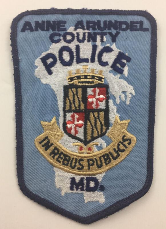 Vintage Anne Arundel County Maryland Police Department Shoulder Patch
