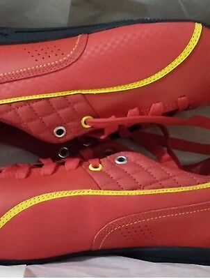 FERRARI PUMA MENS SHOES SNEAKERS SZ10 RED/YELLOW LACE UP LIGHT WEIGHT FROM USA