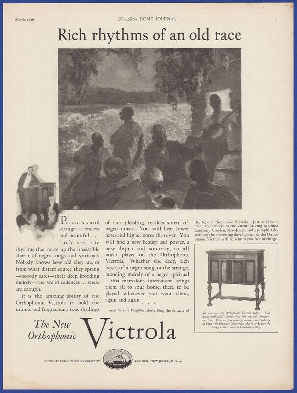 Vintage 1926 VICTROLA Orthophonic Phonograph Ephemera Art Decor Print Ad 1920