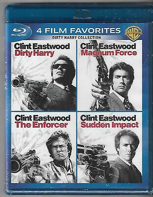Dirty Harry Collection: 4 Film Favorites (Blu-ray Disc, 2014, 4-Disc Set) New