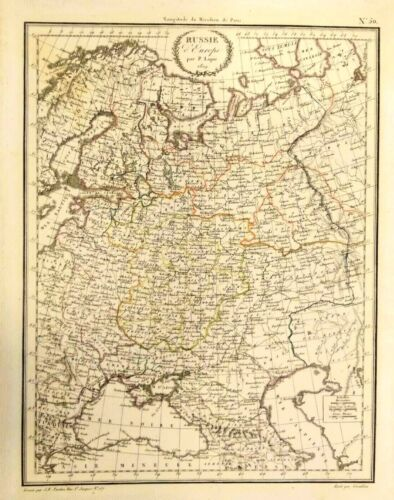 Antique map of Russie L